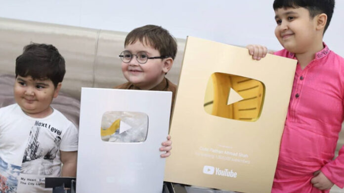 Ahmad Shah with Youtube Silver and Gold Button