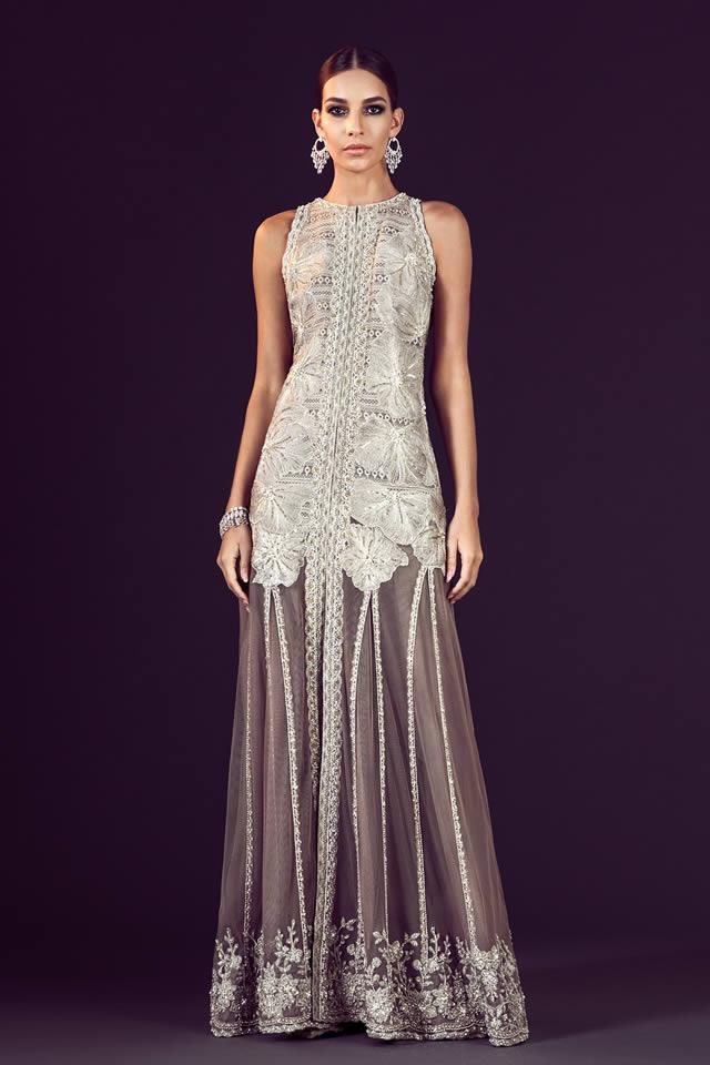 Model wearing Faraz Manan Dress