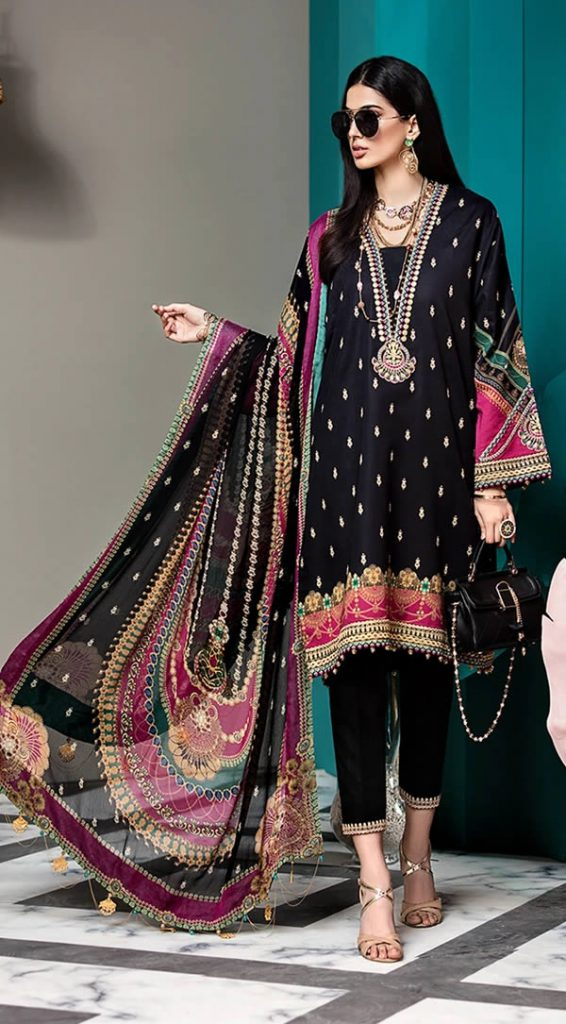 Embroidered Digital Printed Lawn Suit