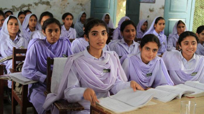 School Girls in Class Room