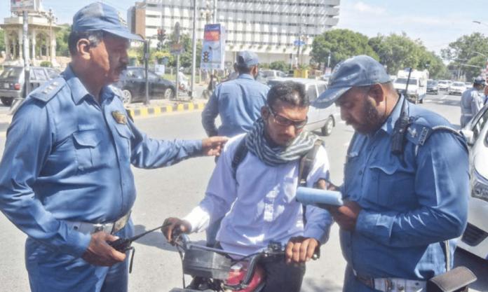 Traffic Warden during Duty
