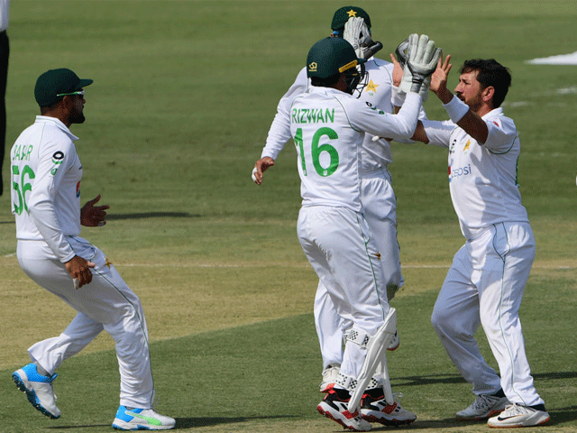 Players Celebrating After Taking Wicket
