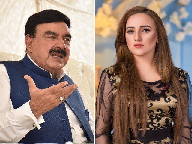 Hareem Shah and Sheikh Rasheed